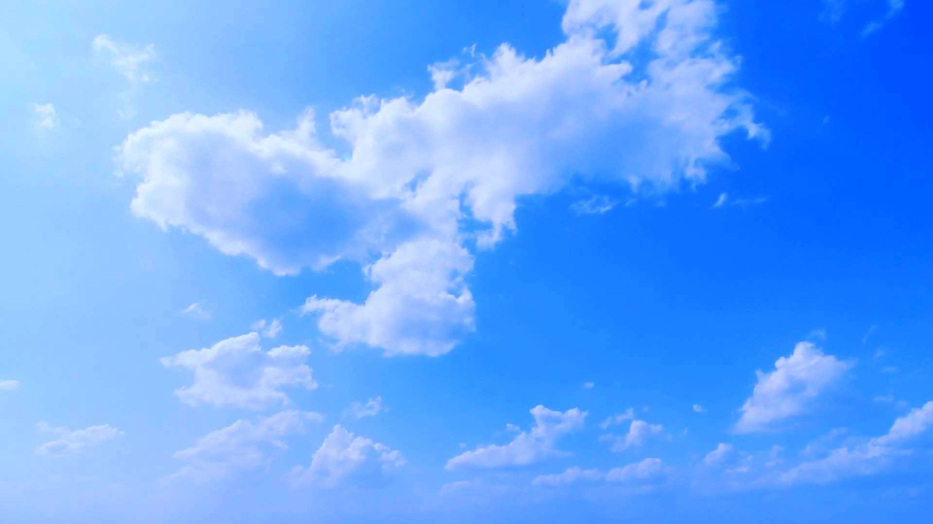Blue sky background for airplane
